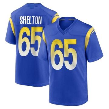 Youth Nike Los Angeles Rams Coleman Shelton Royal Alternate Jersey - Game