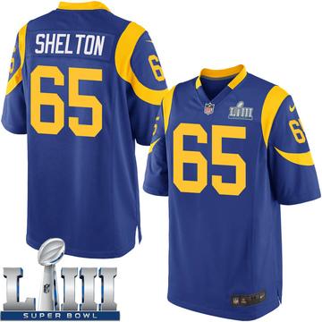 Youth Nike Los Angeles Rams Coleman Shelton Royal Alternate Super Bowl LIII Bound Jersey - Game