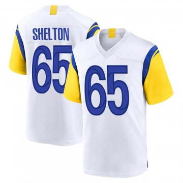 Youth Nike Los Angeles Rams Coleman Shelton White Jersey - Game