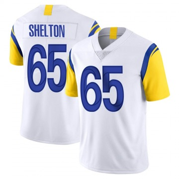 Youth Nike Los Angeles Rams Coleman Shelton White Vapor Untouchable Jersey - Limited