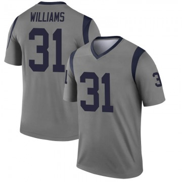 Youth Nike Los Angeles Rams Darious Williams Gray Inverted Jersey - Legend