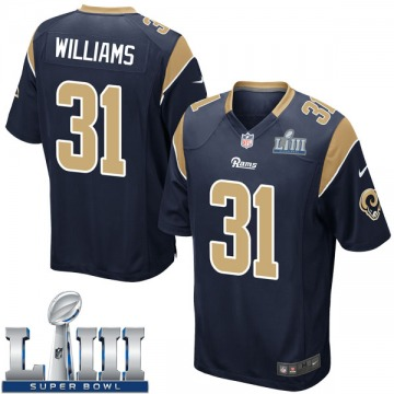 Youth Nike Los Angeles Rams Darious Williams Navy Team Color Super Bowl LIII Bound Jersey - Game