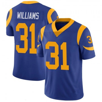 Youth Nike Los Angeles Rams Darious Williams Royal 100th Vapor Jersey - Limited