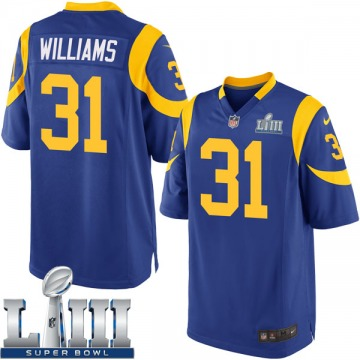 Youth Nike Los Angeles Rams Darious Williams Royal Alternate Super Bowl LIII Bound Jersey - Game