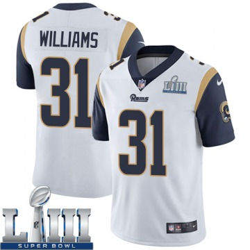 Youth Nike Los Angeles Rams Darious Williams White Super Bowl LIII Bound Vapor Untouchable Jersey - Limited