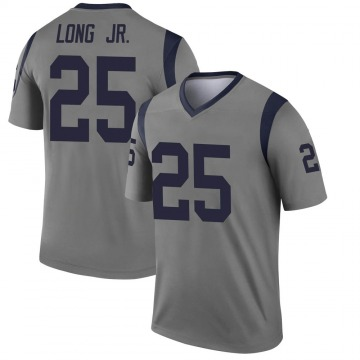 Youth Nike Los Angeles Rams David Long Gray Inverted Jersey - Legend