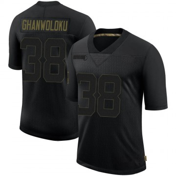 Youth Nike Los Angeles Rams Dayan Ghanwoloku Black 2020 Salute To Service Jersey - Limited