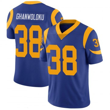 Youth Nike Los Angeles Rams Dayan Ghanwoloku Royal 100th Vapor Jersey - Limited