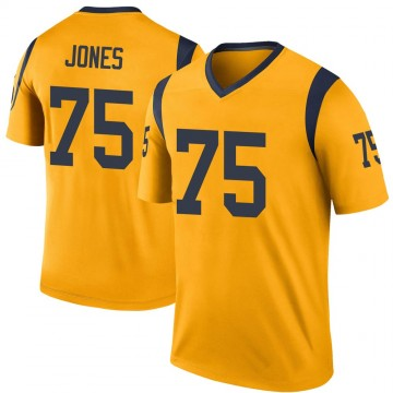 Youth Nike Los Angeles Rams Deacon Jones Gold Color Rush Jersey - Legend