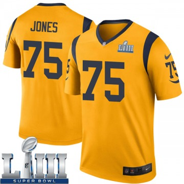 Youth Nike Los Angeles Rams Deacon Jones Gold Color Rush Super Bowl LIII Bound Jersey - Legend