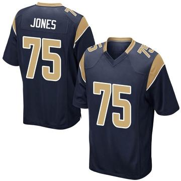 Youth Nike Los Angeles Rams Deacon Jones Navy Team Color Jersey - Game