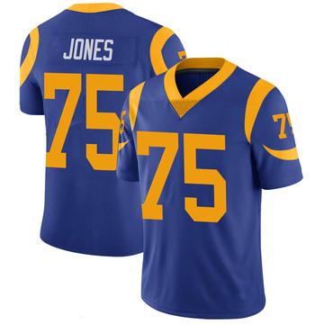 Youth Nike Los Angeles Rams Deacon Jones Royal 100th Vapor Jersey - Limited