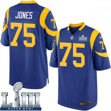 Youth Nike Los Angeles Rams Deacon Jones Royal Alternate Super Bowl LIII Bound Jersey - Game