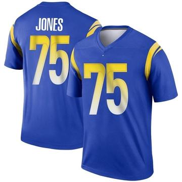 Youth Nike Los Angeles Rams Deacon Jones Royal Jersey - Legend