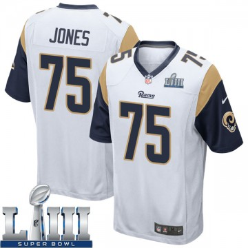 Youth Nike Los Angeles Rams Deacon Jones White Super Bowl LIII Bound Jersey - Game