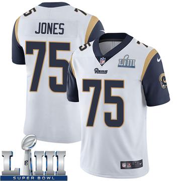Youth Nike Los Angeles Rams Deacon Jones White Super Bowl LIII Bound Vapor Untouchable Jersey - Limited