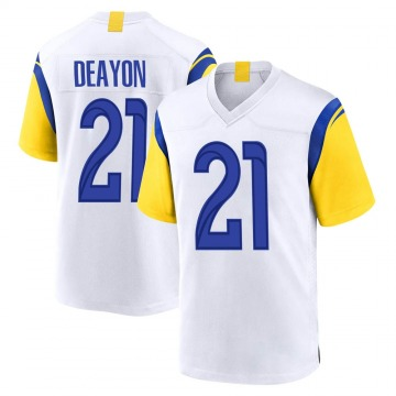 Youth Nike Los Angeles Rams Donte Deayon White Jersey - Game