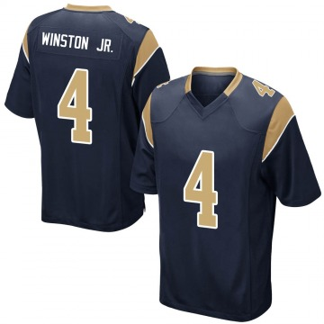 Youth Nike Los Angeles Rams Easop Winston Jr. Navy Team Color Jersey - Game