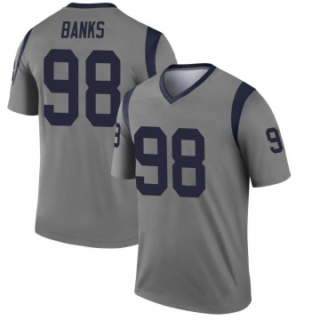 Youth Nike Los Angeles Rams Eric Banks Gray Inverted Jersey - Legend