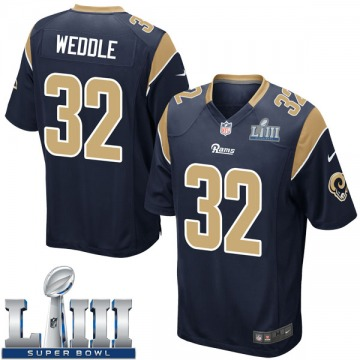 Youth Nike Los Angeles Rams Eric Weddle Navy Team Color Super Bowl LIII Bound Jersey - Game
