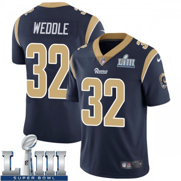 Youth Nike Los Angeles Rams Eric Weddle Navy Team Color Super Bowl LIII Bound Vapor Untouchable Jersey - Limited