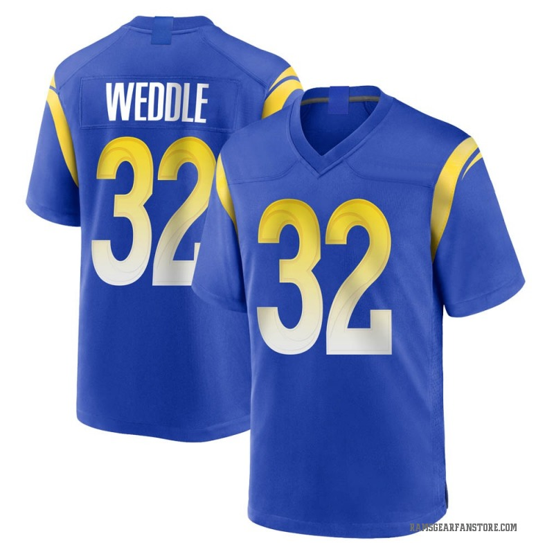 the latest 7e088 4aa94 Youth Nike Los Angeles Rams Eric Weddle Royal Alternate Jersey - Game