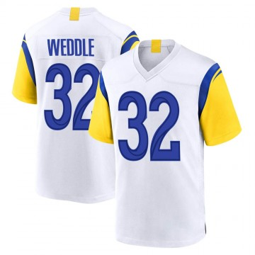 Youth Nike Los Angeles Rams Eric Weddle White Jersey - Game