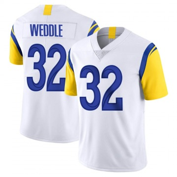 Youth Nike Los Angeles Rams Eric Weddle White Vapor Untouchable Jersey - Limited