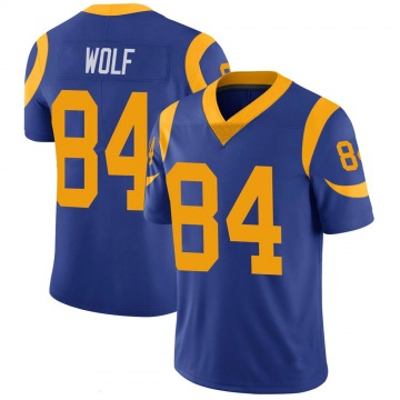 Youth Nike Los Angeles Rams Ethan Wolf Royal 100th Vapor Jersey - Limited