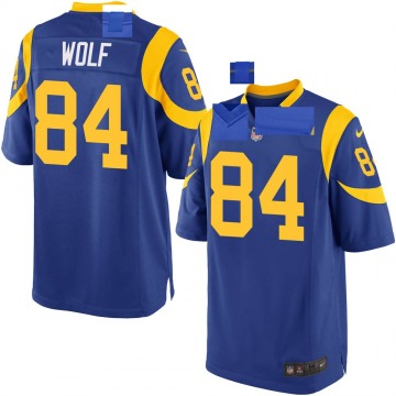 Youth Nike Los Angeles Rams Ethan Wolf Royal Alternate Jersey - Game