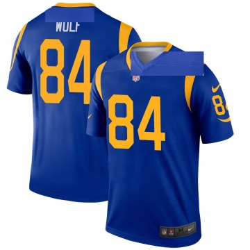Youth Nike Los Angeles Rams Ethan Wolf Royal Jersey - Legend