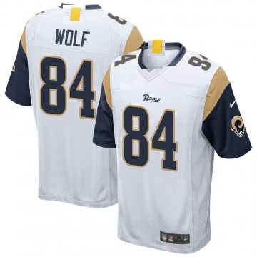 Youth Nike Los Angeles Rams Ethan Wolf White Jersey - Game