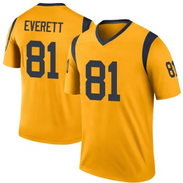 Youth Nike Los Angeles Rams Gerald Everett Gold Color Rush Jersey - Legend