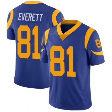 Youth Nike Los Angeles Rams Gerald Everett Royal 100th Vapor Jersey - Limited
