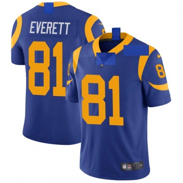 Youth Nike Los Angeles Rams Gerald Everett Royal Alternate Vapor Untouchable Jersey - Limited