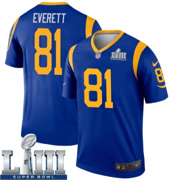 Youth Nike Los Angeles Rams Gerald Everett Royal Super Bowl LIII Bound Jersey - Legend
