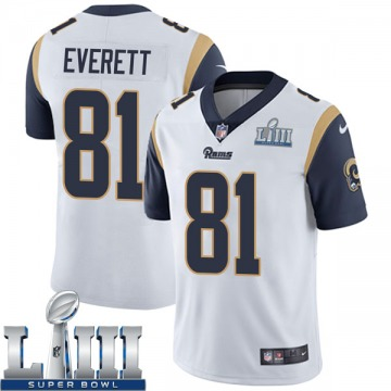 Youth Nike Los Angeles Rams Gerald Everett White Super Bowl LIII Bound Vapor Untouchable Jersey - Limited