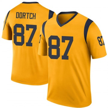 Youth Nike Los Angeles Rams Greg Dortch Gold Color Rush Jersey - Legend