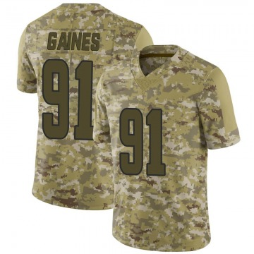 Youth Nike Los Angeles Rams Greg Gaines Camo 2018 Salute to Service Jersey - Limited