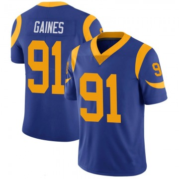Youth Nike Los Angeles Rams Greg Gaines Royal 100th Vapor Jersey - Limited