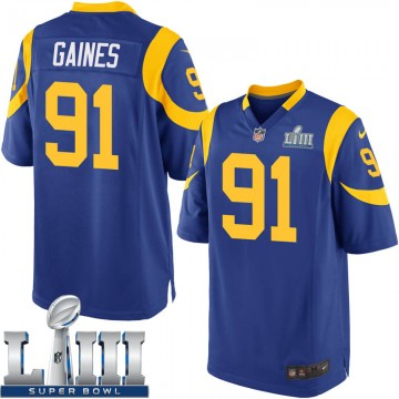 Youth Nike Los Angeles Rams Greg Gaines Royal Alternate Super Bowl LIII Bound Jersey - Game