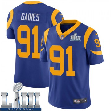 Youth Nike Los Angeles Rams Greg Gaines Royal Alternate Super Bowl LIII Bound Vapor Untouchable Jersey - Limited