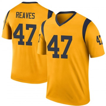 Youth Nike Los Angeles Rams Greg Reaves Gold Color Rush Jersey - Legend