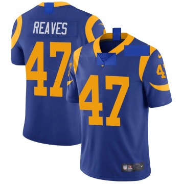 Youth Nike Los Angeles Rams Greg Reaves Royal Alternate Vapor Untouchable Jersey - Limited
