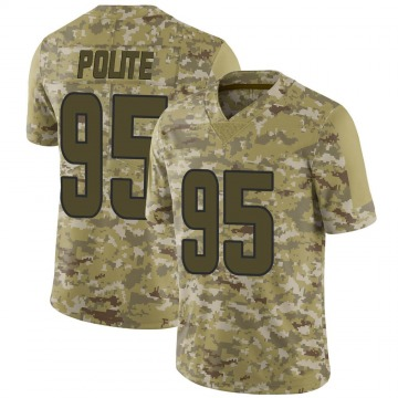 Youth Nike Los Angeles Rams Jachai Polite Camo 2018 Salute to Service Jersey - Limited