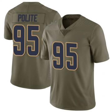 Youth Nike Los Angeles Rams Jachai Polite Green 2017 Salute to Service Jersey - Limited