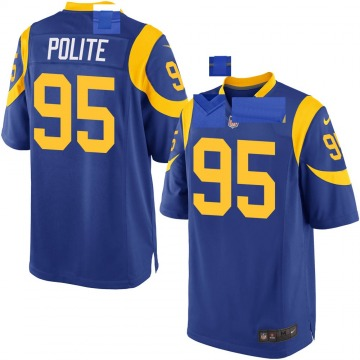 Youth Nike Los Angeles Rams Jachai Polite Royal Alternate Jersey - Game