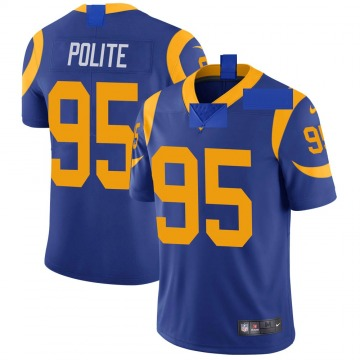 Youth Nike Los Angeles Rams Jachai Polite Royal Alternate Vapor Untouchable Jersey - Limited