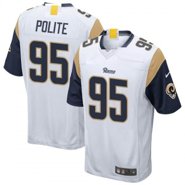 Youth Nike Los Angeles Rams Jachai Polite White Jersey - Game