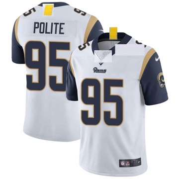 Youth Nike Los Angeles Rams Jachai Polite White Vapor Untouchable Jersey - Limited